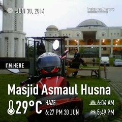 Photo taken at Masjid Nur Asmaul Husna by Al G. on 6/30/2014