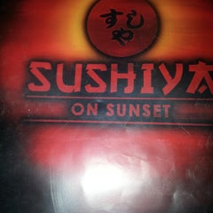 Photo taken at Sushiya On Sunset by Donna T. on 11/3/2013