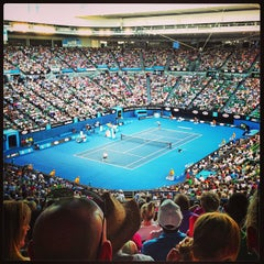 Photo taken at Rod Laver Arena by Narina on 1/17/2013