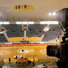 Photo taken at Αλεξάνδρειο Μέλαθρον (Palais des Sports) by Andreas Κ. on 11/10/2012