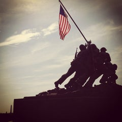Photo taken at US Marine Corps War Memorial (Iwo Jima) by Watson J. on 7/21/2013