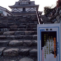 Photo taken at 長浜城 (長浜城歴史博物館) by psychicer on 12/27/2015