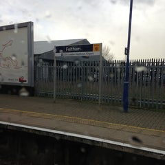Photo taken at Feltham Railway Station (FEL) by Clinton F. on 2/6/2013