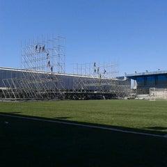 Photo taken at Estádio Passo D'Areia (Zequinha) by Alysson V. on 2/27/2013