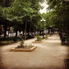 Photo taken at Parque Bustamante by Jorge M. on 12/18/2012
