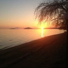 Photo taken at Pinar Otel beach club by Arzu C. on 4/4/2013