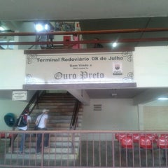 Photo taken at Terminal Rodoviário de Ouro Preto by Thaís M. on 9/14/2012