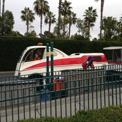 Photo taken at Mickey & Friends Tram by David N. on 12/14/2012