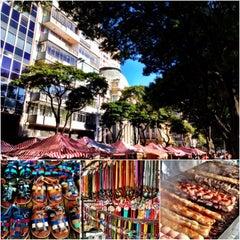Photo taken at Feira de Artes e Artesanato de Belo Horizonte (Feira Hippie) by Daniel Costa d. on 7/28/2013
