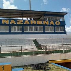 Photo taken at Estádio Municipal José Nazareno do Nascimento (Nazarenão) by Luciano F. on 9/18/2013