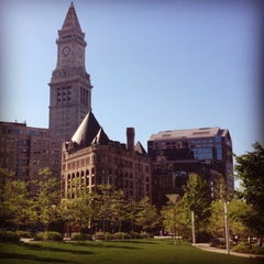 Photo taken at The Rose Kennedy Greenway by Erin S. on 5/17/2014