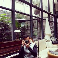Photo taken at Khaki Cafe Bar by Elaine W. on 3/6/2015