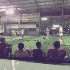 Photo taken at Cimahpar Futsal by Rizki W. on 4/18/2013