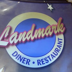 Photo taken at Landmark Diner by Joel W. on 12/19/2012