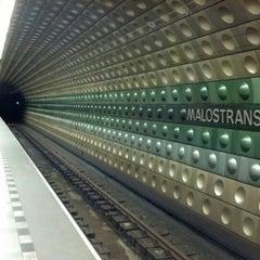 Photo taken at Metro =A= Malostranská by Mike K. on 1/3/2013