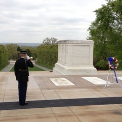 Photo taken at Tomb of the Unknowns by Harjit on 4/23/2013
