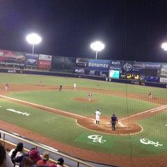 Photo taken at Estadio de Beisbol Eduardo Vasconcelos by Riko Z. on 4/27/2013