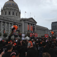 Photo taken at Civic Center Plaza by Baysics C. on 10/31/2012