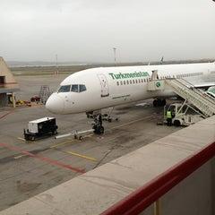 Photo taken at Saparmurat Turkmenbashi International Airport (ASB) by Айна on 3/25/2013