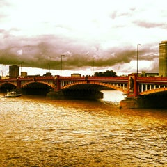 Photo taken at Vauxhall Bridge by Andrew J. on 7/28/2013