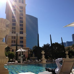 Photo taken at The Pool At Bellagio by Matthi V. on 2/7/2013