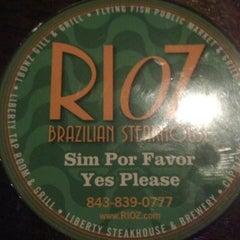 Photo taken at Rioz Brazilian Steakhouse by Bryan C. on 3/9/2013