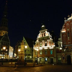 Photo taken at Vecrīga | Старая Рига | Riga Old town by Luda S. on 4/28/2013