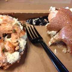 Photo taken at Einstein Bros Bagels by Jenny-Lind A. on 6/8/2014