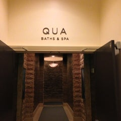 Photo taken at Qua Baths & Spa by Debbie on 3/28/2013