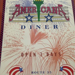Photo taken at The Americana Diner by Casey T. on 8/11/2013