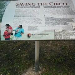 Photo taken at Miami Circle Park by Bonnie W. on 4/22/2015
