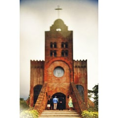 Photo taken at Caleruega Church by Guj T. on 3/22/2013