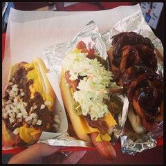 Photo taken at Pink's Hot Dogs by Derek N. on 6/18/2013