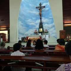 Photo taken at Gereja Katolik Roh Kudus by Deasy on 4/4/2015