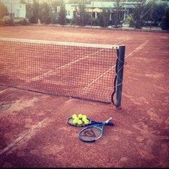 Photo taken at Tennis Club De L'Avenir Sportif De La Marsa by Chelbi D. on 9/14/2014