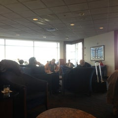 Photo taken at Delta Sky Club by Chris H. on 2/1/2013