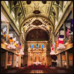 Photo taken at St. Louis Cathedral by Michael F. on 4/27/2013