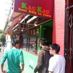 Photo taken at Kau Kau Barbeque Market by Daniel S. on 9/28/2012
