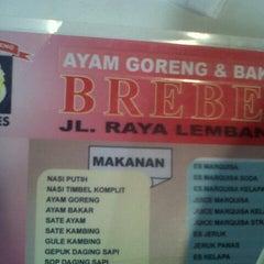 Photo taken at Ayam Bakar & Goreng Brebes by Muh H. on 5/10/2014