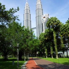 Photo taken at Kuala Lumpur City Centre (KLCC) Park by نظر شه ع. on 2/2/2013