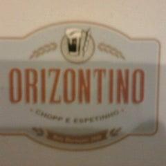 Photo taken at Orizontino Bar e Cultura by Bruno Tardelle F. on 10/28/2012