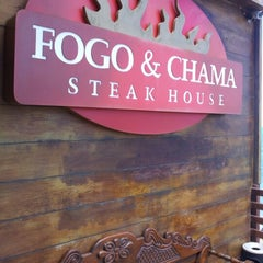 Photo taken at Fogo & Chama Steak House by Guilherme S. on 11/27/2012