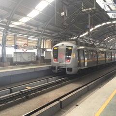 Photo taken at Qutab Minar Metro Station by Sheikh N. on 1/2/2016