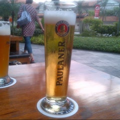 Photo taken at Brotzeit German Bier Bar & Restaurant by Jake V. on 4/27/2013