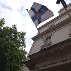 Photo taken at Finnish Embassy by Mervi V. on 5/17/2014