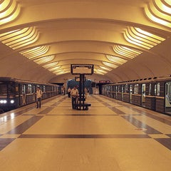 Photo taken at Метро Улица Академика Янгеля (metro Ulitsa Akademika Yangelya) by Fоursquаrе по-русски on 10/31/2012
