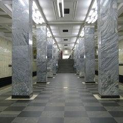 Photo taken at Метро Сокольники (metro Sokolniki) by Fоursquаrе по-русски on 10/29/2012