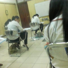 Photo taken at Stie Indonesia (kampus A) by Gilang R. on 12/28/2012