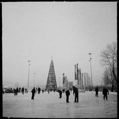 Photo taken at Каток возле национальной библиотеки by Denis P. on 1/13/2013