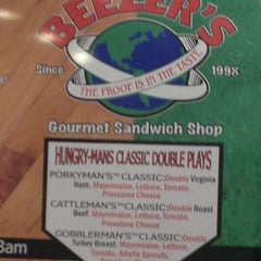 Photo taken at Beezer's Gourmet Sandwich Shop by Angela H. on 10/17/2012